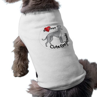 I Love My Happy Adorable Funny & Cute Greyhound Do Shirt