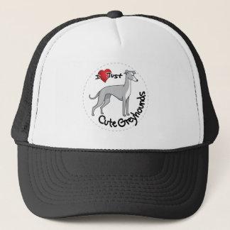 I Love My Happy Adorable Funny & Cute Greyhound Do Trucker Hat