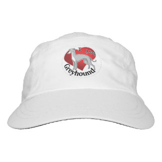 I Love My Happy Adorable Funny & Cute Greyhound Hat