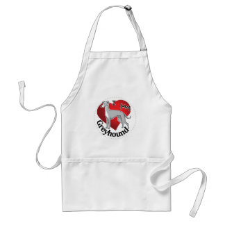 I Love My Happy Adorable Funny & Cute Greyhound Standard Apron