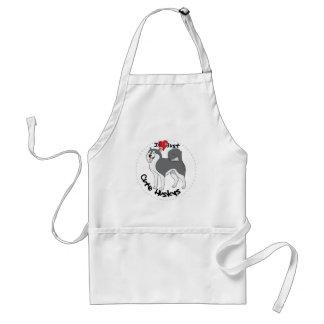 I Love My Happy Adorable Funny & Cute Husky Dog Standard Apron