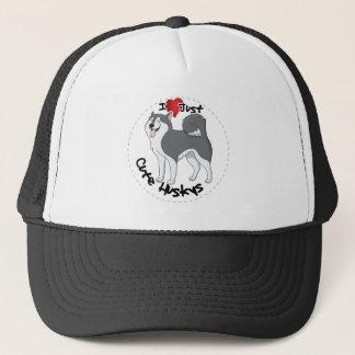 I Love My Happy Adorable Funny & Cute Husky Dog Trucker Hat