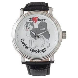 I Love My Happy Adorable Funny & Cute Husky Dog Watch