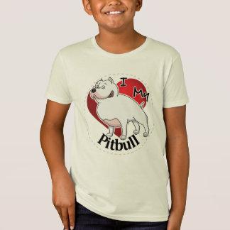 I Love My Happy Adorable Funny & Cute Pitbull Dog T-Shirt