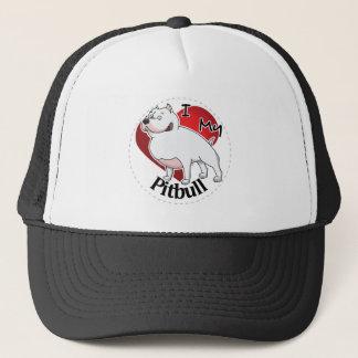 I Love My Happy Adorable Funny & Cute Pitbull Dog Trucker Hat