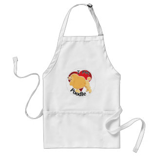 I Love My Happy Adorable Funny & Cute Poodle Dog Standard Apron