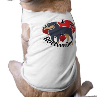 I Love My Happy Adorable Funny & Cute Rottweiler Shirt