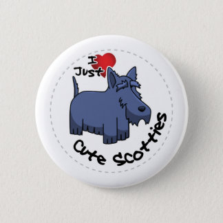 I Love My Happy Adorable Funny & Cute Scottie Dog 6 Cm Round Badge