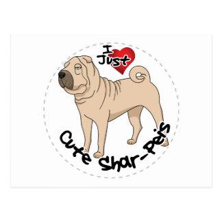 I Love My Happy Adorable Funny & Cute Shar Pei Dog Postcard