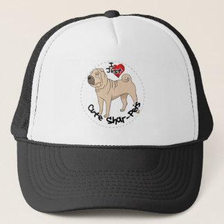 I Love My Happy Adorable Funny & Cute Shar Pei Dog Trucker Hat