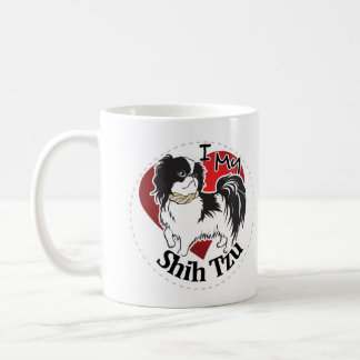 I Love My Happy Adorable Funny & Cute Shih Tzu Dog Coffee Mug