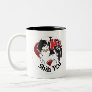 I Love My Happy Adorable Funny & Cute Shih Tzu Dog Two-Tone Coffee Mug