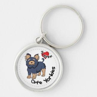 I Love My Happy Adorable Funny & Cute Yorkie Dog Key Ring