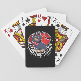 I Love My Happy Adorable Funny & Cute Yorkie Dog Playing Cards