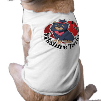 I Love My Happy Adorable Funny & Cute Yorkie Dog Shirt