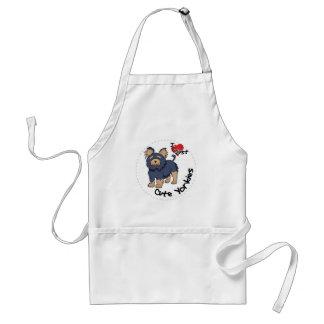 I Love My Happy Adorable Funny & Cute Yorkie Dog Standard Apron