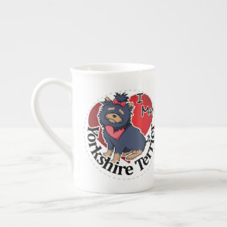 I Love My Happy Adorable Funny & Cute Yorkie Dog Tea Cup