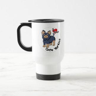 I Love My Happy Adorable Funny & Cute Yorkie Dog Travel Mug