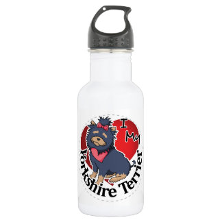 I Love My Happy Adorable Funny & Cute Yorkshire Te 532 Ml Water Bottle