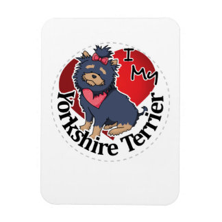 I Love My Happy Adorable Funny & Cute Yorkshire Te Magnet