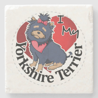 I Love My Happy Adorable Funny & Cute Yorkshire Te Stone Coaster