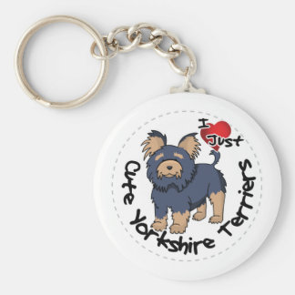 I Love My Happy Funny & Cute Yorkshire Terrier Basic Round Button Key Ring