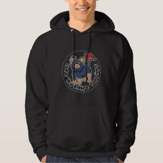 I Love My Happy Funny & Cute Yorkshire Terrier Hoodie
