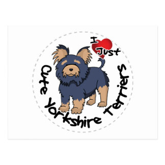 I Love My Happy Funny & Cute Yorkshire Terrier Postcard