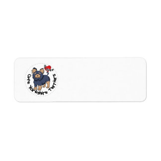 I Love My Happy Funny & Cute Yorkshire Terrier Return Address Label