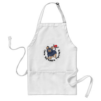 I Love My Happy Funny & Cute Yorkshire Terrier Standard Apron