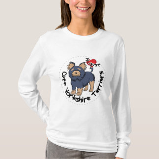 I Love My Happy Funny & Cute Yorkshire Terrier T-Shirt