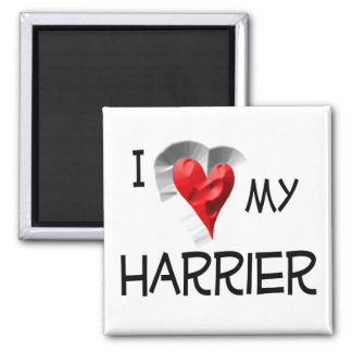 I Love My Harrier Square Magnet
