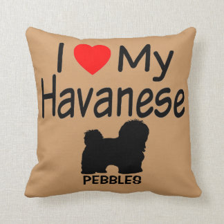 I Love My Havanese Dog Cushion