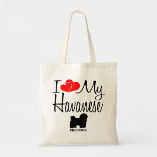 I Love My Havanese Dog Tote Bag