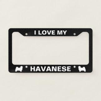 I Love My Havanese | Silhouettes Custom Licence Plate Frame