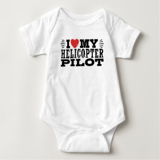I Love My Helicopter Pilot Baby Bodysuit
