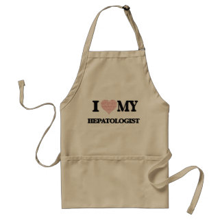 I love my Hepatologist (Heart Made from Words) Standard Apron