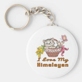 I Love My Himalayan Basic Round Button Key Ring