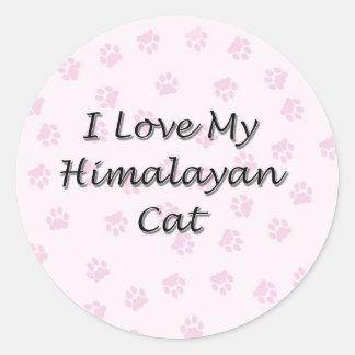 I Love My Himalayan Cat Round Sticker