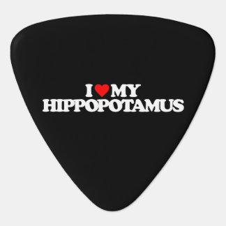 I LOVE MY HIPPOPOTAMUS PLECTRUM