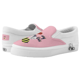 I Love my Honey Bee Zipz Slip On Shoes  US-Women Printed Shoes