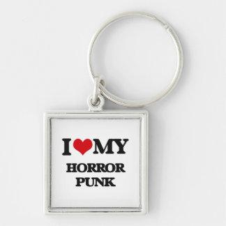 I Love My HORROR PUNK Keychain