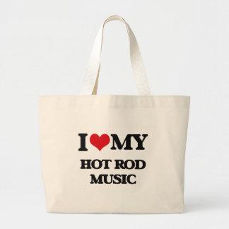 I Love My HOT ROD MUSIC Tote Bag