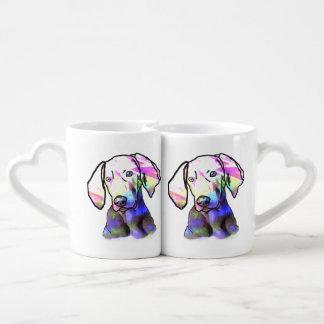 I love my hound dog couple mugs