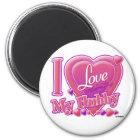 I Love My Hubby pink/purple - heart Magnet