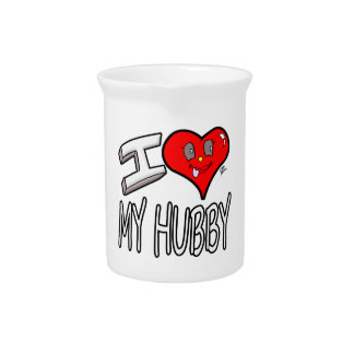I Love My Hubby Pitcher
