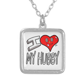 I Love My Hubby Silver Plated Necklace