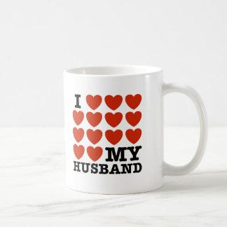 I Love My Husband Basic White Mug