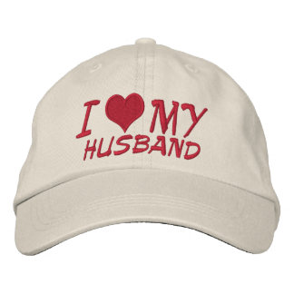 I Love My Husband Embroidered Hat