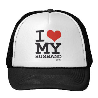 i love my husband mesh hat